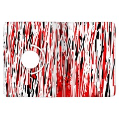Red, black and white pattern Kindle Fire HDX Flip 360 Case