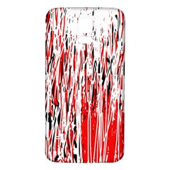 Red, black and white pattern Samsung Galaxy S5 Back Case (White)