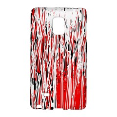 Red, black and white pattern Galaxy Note Edge