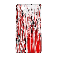 Red, black and white pattern Sony Xperia Z3 Compact