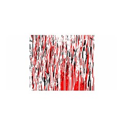 Red, black and white pattern Satin Wrap