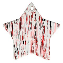 Red, black and white pattern Ornament (Star)