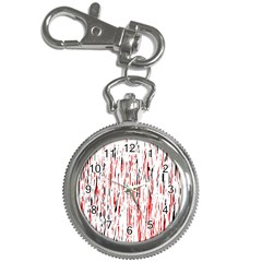 Red, black and white pattern Key Chain Watches