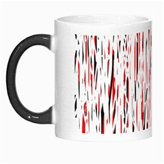 Red, black and white pattern Morph Mugs