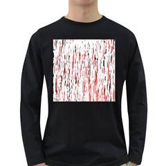 Red, black and white pattern Long Sleeve Dark T-Shirts