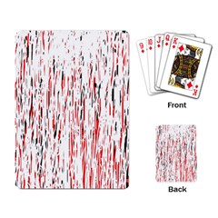 Red, black and white pattern Playing Card