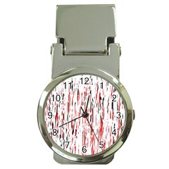 Red, black and white pattern Money Clip Watches