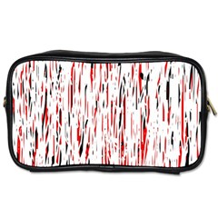 Red, black and white pattern Toiletries Bags 2-Side