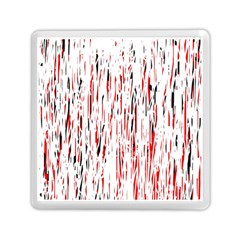 Red, black and white pattern Memory Card Reader (Square)