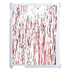Red, black and white pattern Apple iPad 2 Case (White)