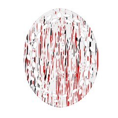 Red, black and white pattern Ornament (Oval Filigree)