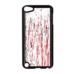 Red, black and white pattern Apple iPod Touch 5 Case (Black)