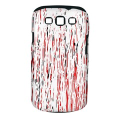 Red, black and white pattern Samsung Galaxy S III Classic Hardshell Case (PC+Silicone)