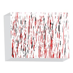 Red, black and white pattern 5 x 7  Acrylic Photo Blocks