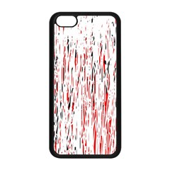 Red, black and white pattern Apple iPhone 5C Seamless Case (Black)