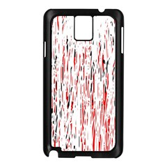 Red, black and white pattern Samsung Galaxy Note 3 N9005 Case (Black)