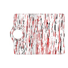 Red, black and white pattern Kindle Fire HD (2013) Flip 360 Case