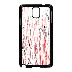Red, black and white pattern Samsung Galaxy Note 3 Neo Hardshell Case (Black)