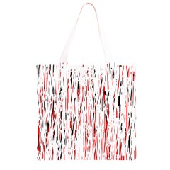 Red, black and white pattern Grocery Light Tote Bag