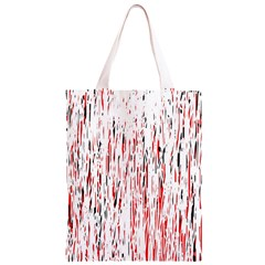 Red, black and white pattern Classic Light Tote Bag