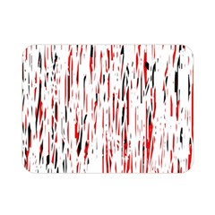 Red, black and white pattern Double Sided Flano Blanket (Mini)