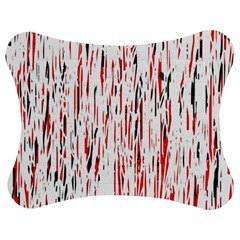 Red, black and white pattern Jigsaw Puzzle Photo Stand (Bow)