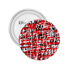 Red, white and black pattern 2.25  Buttons