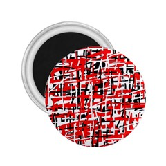 Red, white and black pattern 2.25  Magnets