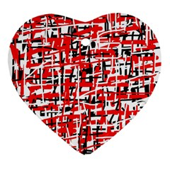 Red, white and black pattern Ornament (Heart)