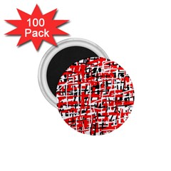 Red, white and black pattern 1.75  Magnets (100 pack)