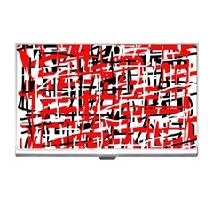 Red, white and black pattern Business Card Holders