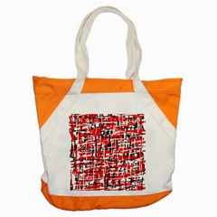 Red, white and black pattern Accent Tote Bag
