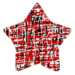 Red, white and black pattern Star Ornament (Two Sides)