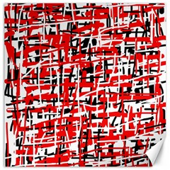 Red, white and black pattern Canvas 12  x 12