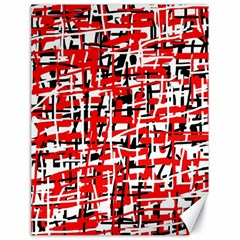 Red, white and black pattern Canvas 18  x 24
