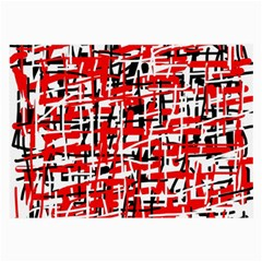 Red, white and black pattern Large Glasses Cloth