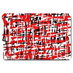 Red, white and black pattern Large Doormat