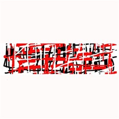 Red, white and black pattern Large Bar Mats