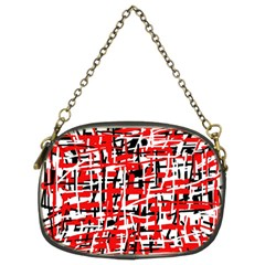 Red, white and black pattern Chain Purses (Two Sides)