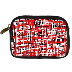 Red, white and black pattern Digital Camera Cases
