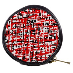 Red, white and black pattern Mini Makeup Bags