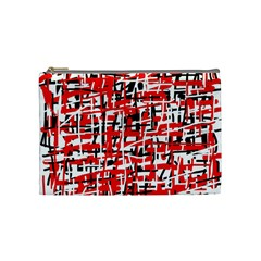 Red, white and black pattern Cosmetic Bag (Medium)