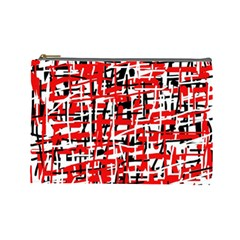 Red, white and black pattern Cosmetic Bag (Large)