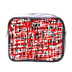 Red, white and black pattern Mini Toiletries Bags