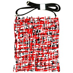 Red, white and black pattern Shoulder Sling Bags
