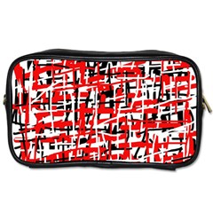 Red, white and black pattern Toiletries Bags