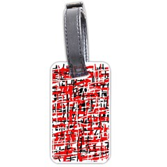 Red, white and black pattern Luggage Tags (One Side)