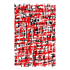 Red, white and black pattern Shower Curtain 48  x 72  (Small)