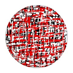 Red, white and black pattern Ornament (Round Filigree)