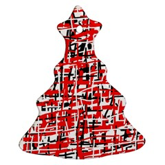 Red, white and black pattern Ornament (Christmas Tree)